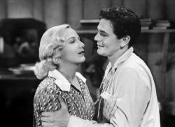 Gloria Dickson and John Garfield in They Made Me a Criminal.