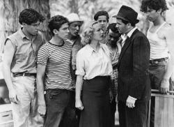 The Dead End Kids with Gloria Dickson and John Garfield in They Made Me a Criminal.