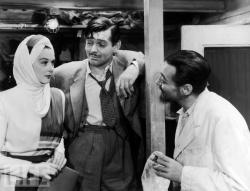 Rosalind Russell, Clark Gable and Peter Lorre in They Met in Bombay.