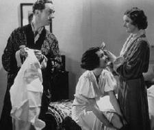 William Powell, Maureen OSullivan and Myrna Loy in The Thin Man.