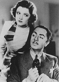 Myrna Loy and William Powell in The Thin Man.