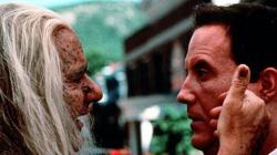 Michael Constantine and Robert John Burke in Thinner.