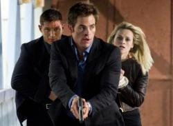 Tom Hardy, Reese Witherspoon and Chris Pine This Means War.