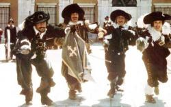 Oliver Reed, Frank Finlay, Michael York, and Richard Chamberlain in The Three Musketeers.