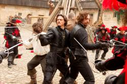 Logan Lerman, Luke Evans and Matthew Macfadyen in The Three Musketeers.