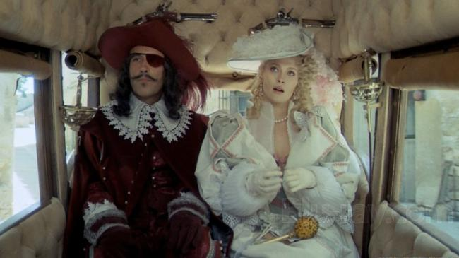 Christopher Lee and Faye Dunaway in The Three Musketeers.