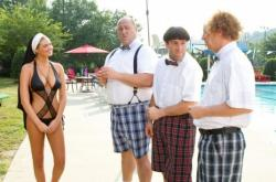 Kate Upton, Will Sasso, Chris Diamantopoulos and Sean Hayes in The Three Stooges.