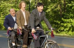 Will Sasso, Sean Hayes and Chris Diamantopoulos as Curly, Larry and Moe in The Three Stooges.
