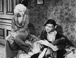 Jean Harlow and Mae Clarke in 3 Wise Girls.
