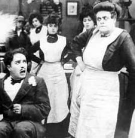 Charlie Chaplin and Marie Dressler in Tillie's Punctured Romance.