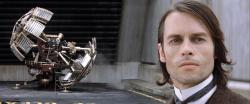 Guy Pearce and his titular invention in The Time Machine.