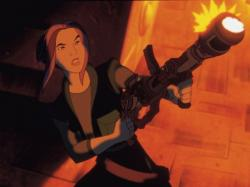 Drew Barrymore voices Akima in Titan AE.