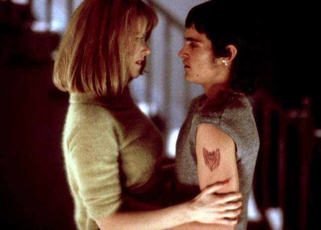 Nicole Kidman and Joaquin Phoenix in To Die For.