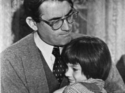 Gregory Peck and Mary Badham in To Kill a Mockingbird.
