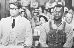Gregory Peck and Brock Peters in To Kill a Mockingbird.