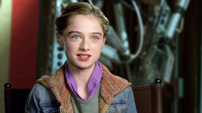 Raffey Cassidy as Athena in Tomorrowland