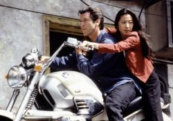 Pierce Brosnan and Michelle Yeoh in Tomorrow Never Dies.