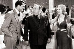 Cary Grant, Eugene Pallette, and Constance Bennett in Topper.