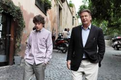 Jesse Eisenberg and Alec Baldwin in To Rome with Love