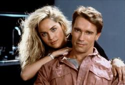 Sharon Stone and Arnold Schwarzenegger in the original Total Recall.