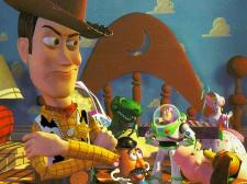 Tom Hanks voices Woody the cowboy in Pixar's Toy Story.