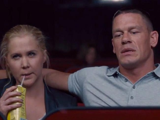 Amy Schumer and John Cena in Trainwreck