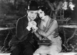 Harry Langdon and Joan Crawford in Tramp, Tramp, Tramp.