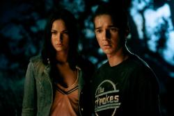 Megan Fox and Shia LaBeouf in Transformers.