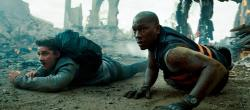 Shia LaBeouf  and Tyrese Gibson in Transformers: Dark of the Moon.