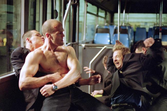 Jason Statham kicks serious butt in The Transporter.