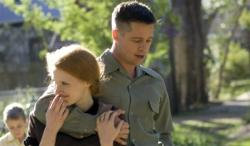 Jessica Chastain and Brad Pitt in The Tree of Life.