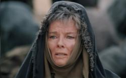Katharine Hepburn as Hecuba in The Trojan Women.