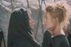 Katharine Hepburn and Vanessa Redgrave in The Trojan Women.