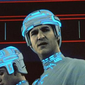 Jeff Bridges as Clu in Tron.