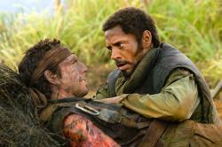 Ben Stiller and Robert Downey Jr. in Tropic Thunder.