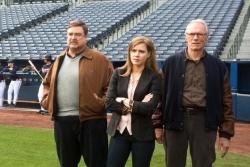 John Goodman, Amy Adams, and Clint Eastwood in Trouble with the Curve.