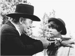John Wayne and Kim Darby in True Grit.
