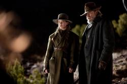 Hailee Steinfeld and Jeff Bridges in True Grit.