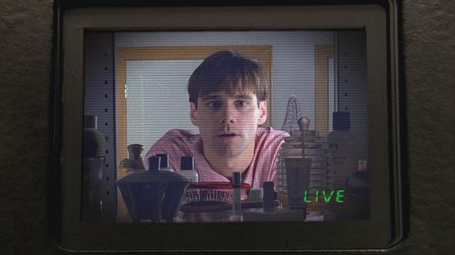 Jim Carrey in The Truman Show.