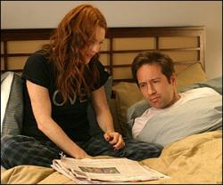Julianne Moore and David Duchovny in Trust the Man.