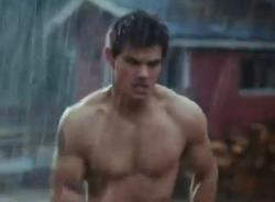 Taylor Lautner gives his fans what they want in Breaking Dawn - Part 1.