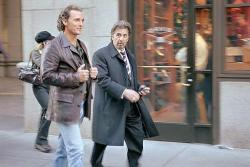 Matthew McConaughey and Al Pacino in Two for the Money.