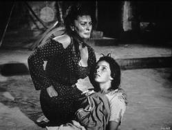 Sophia Loren and Eleonora Brown in Two Women.