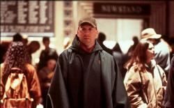 Bruce Willis in Unbreakable.