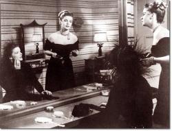 Katharine Hepburn and Jayne Meadows in Undercurrent.