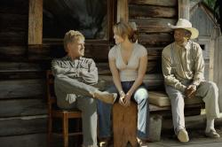 Robert Redford, Jennifer Lopez and Morgan Freeman in An Unfinished Life.