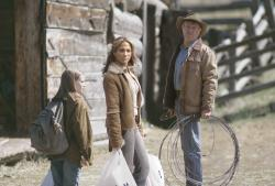Jennifer Lopez and Robert Redford in An Unfinished Life.