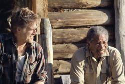 Robert Redford and Morgan Freeman in An Unfinished Life.