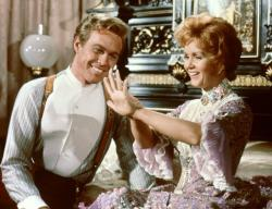 Harve Presnell and Debbie Reynolds in The Unsinkable Molly Brown