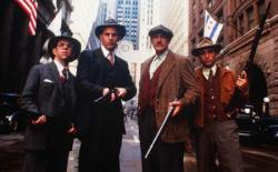 Charles Martin Smith, Kevin Costner, Sean Connery and Andy Garcia in The Untouchables.